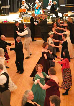 D English Country Dancing at Boston Ball
